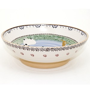 Landscape Mixed Animal Fruit Bowl