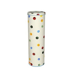Polka Dot Tall Tin