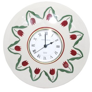 Red Tulip Wall Clock - RETIRED