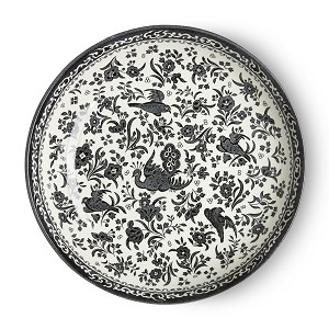 Black Regal Peacock Pasta Bowl- 5 Available