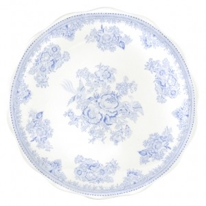 Blue Asiatic Pheasant Cake Plate 11""