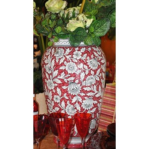 Fiori Rosso Large Urn SALE (save more than half!)