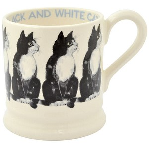 Black  and  White 1/2 Pint Mug