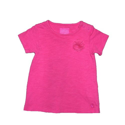 Joules Baby Bright Pink Flower Shirt