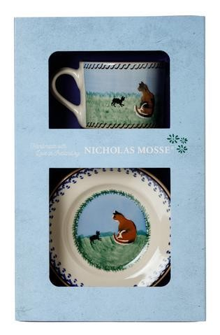 Cat Boxed Set Cup and Plate
