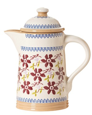 Clematis Coffee Pot