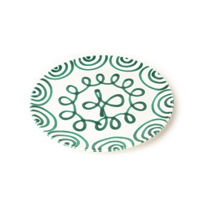 Dizzy Green Coupe Dinner Plate 9.8""
