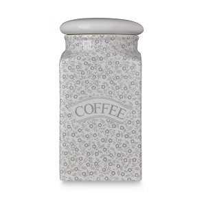 Dove Grey Felicity Coffee Square Covered Storage Jar