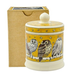 Owls at Night Small Lidded Candle Boxed
