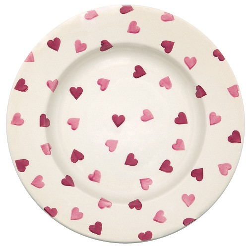 "Pink Hearts 10.5"" Dinner Plate"
