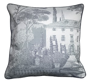 "Palazzina Fusain Cushion Cover 20""X20"", 100% Cotton Set/2"