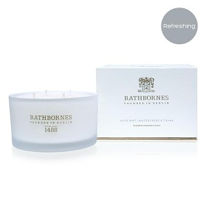 Wild Mint, Watercress & Thyme Scented Luxury Candle
