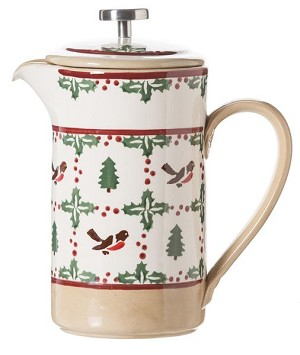 Winter Robin Large Cafetiere Pot , French Press