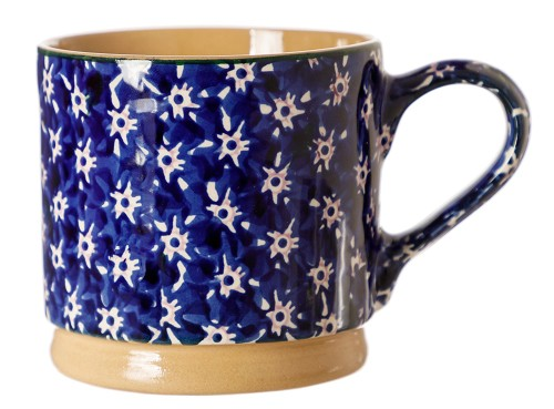 Dark Blue Lawn Large Mug