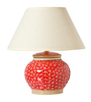 "Lawn Pattern Red 5"" Lamp"