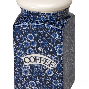 Blue Calico Coffee Square Covered Storage Jar