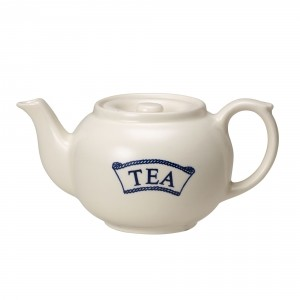 Pantry Dark Blue Badged Tea Teapot for One