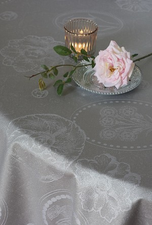 Mille Eclats Macaron Tablecloth  , 100% Cotton