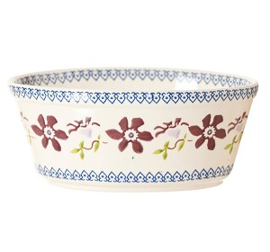 Clematis Small Oval Pie Dish