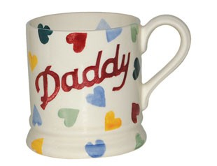 Polka Heart DADDY 1/2 Pint Mug Retired