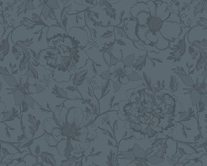 Mille Charmes Anthracite (Grey)  Coated Placemat; set/4