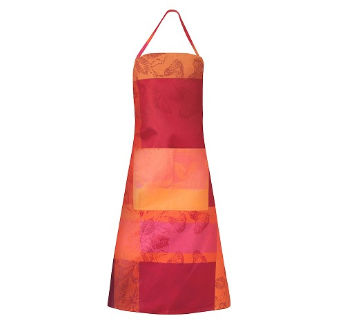 "Mille Fiori Feuillage  Coated Apron  30"" x 33"""