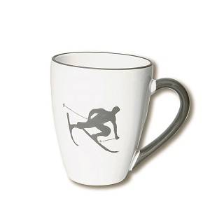 Toni the Skier Mug, Grey