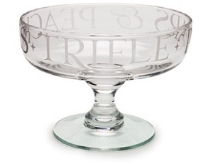 Glass Trifle Bowl Retired