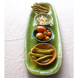 R Wood Antipasto Platter 22""