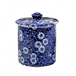 Blue Calico Jam/Sugar Pot