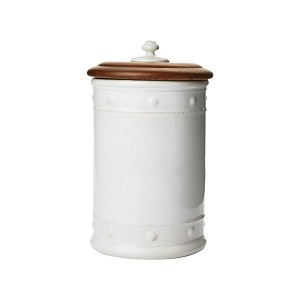 "Berry & Thread Whitewash 13"" Canister with Lid"