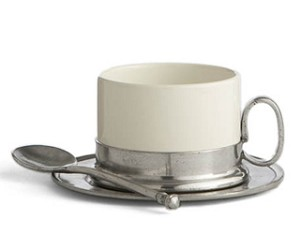 Arte Italica Tuscan Cappuccino Cup, Saucer and Spoon