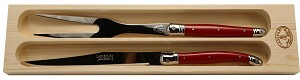 Laguiole Carving Set; Red