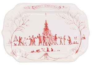 Country Estate Ruby Winter Frolic Gift Tray Merry Christmas
