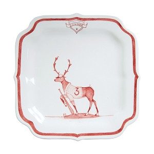 Country Estate Ruby Reindeer Games Ruby Party Plate Donner Baseball