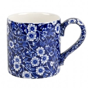 Blue Calico Coffee Mug 1/2 pint
