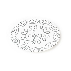 Dizzy Grey Coupe Dinner Plate 11""