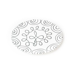 Dizzy Grey Coupe Dinner Plate 9.75""