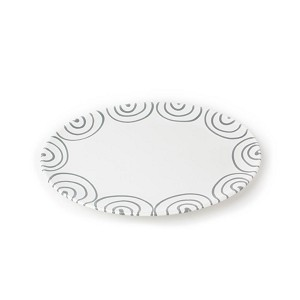 Dizzy Grey Small Oval Plate