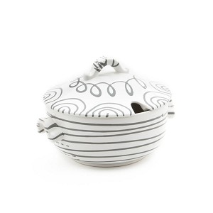 Dizzy Grey Soup Tureen