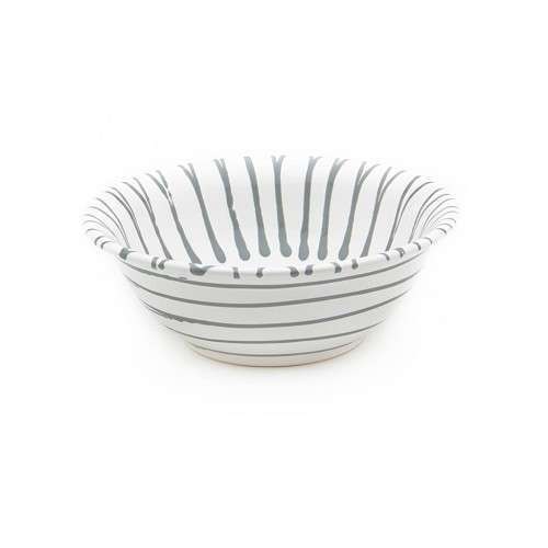 Dizzy Grey Salad Bowl 7.9""