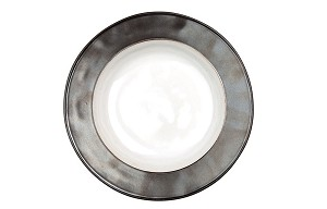 Emerson White/Pewter Pasta/Soup Bowl