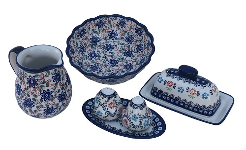 Heritage Combo Polish Pottery 4 Piece Essentials