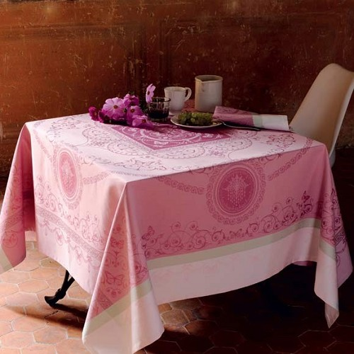 Eugenie CANDY Tablecloth, 100% Cotton Green Sweet