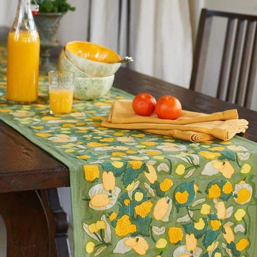 Fruit Yellow & Green Table Runner