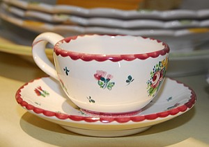 Biedermeier Mocha Cup  and  Saucer