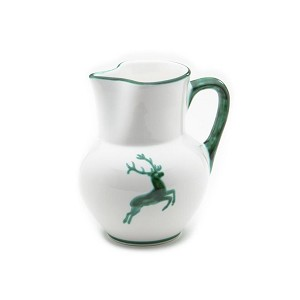 Green Deer (Stag) Pitcher 34 oz