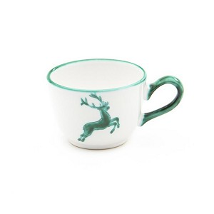 Green Deer (Stag) Coffee Cup and Saucer