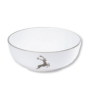 Grey Deer (Stag) Serving Bowl 9""