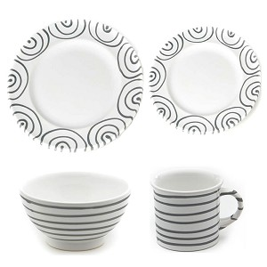 Dizzy Grey Gourmet Place Setting